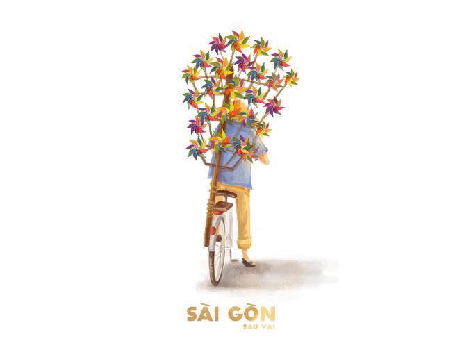 Sài Gòn sâu lắng sau bờ vai qua tranh vẽ các bạn trẻ - 2
