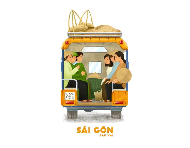 Sài Gòn sâu lắng sau bờ vai qua tranh vẽ các bạn trẻ - 9