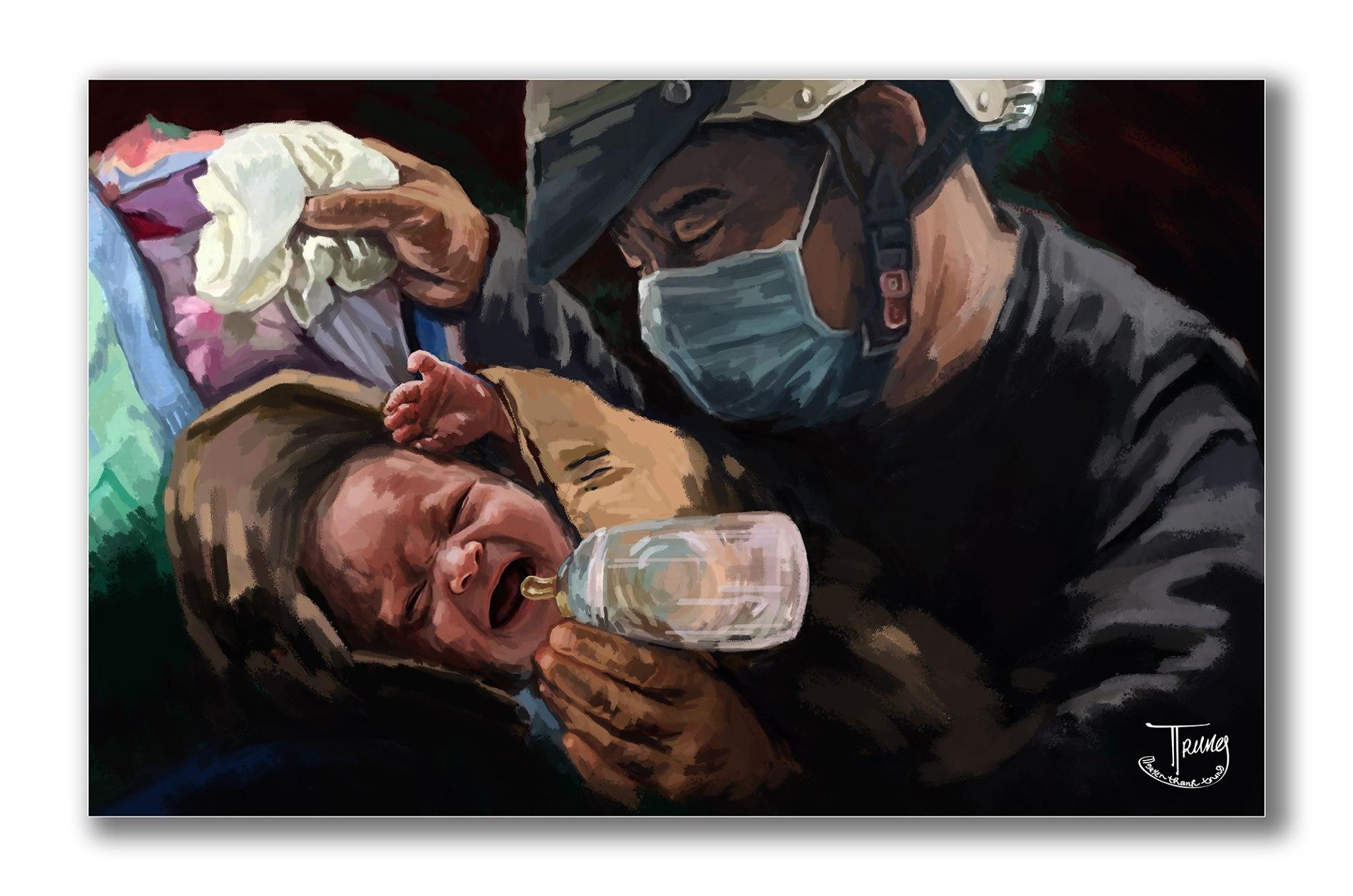 Tranh của họa sĩ Nguyễn Thành Trung về Sài Gòn âu lo nhưng ấm tình người - 7