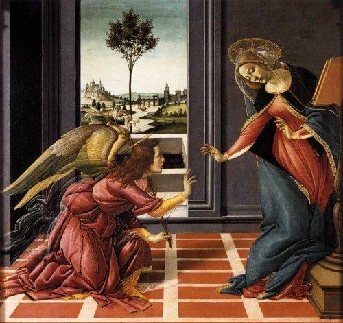 Đức mẹ Mary tiếp nhận thiên ý qua hội họa phương Tây - 1