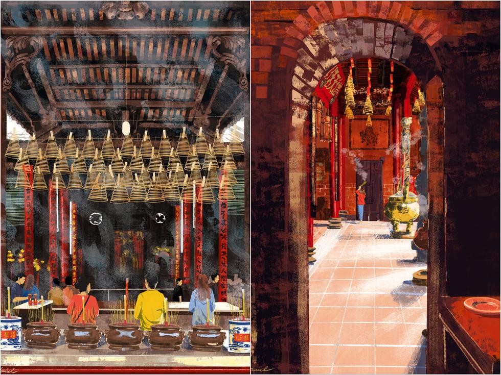 Bộ tranh 'vẽ Sài Gòn bằng cả trái tim' của họa sĩ Philippines - 8