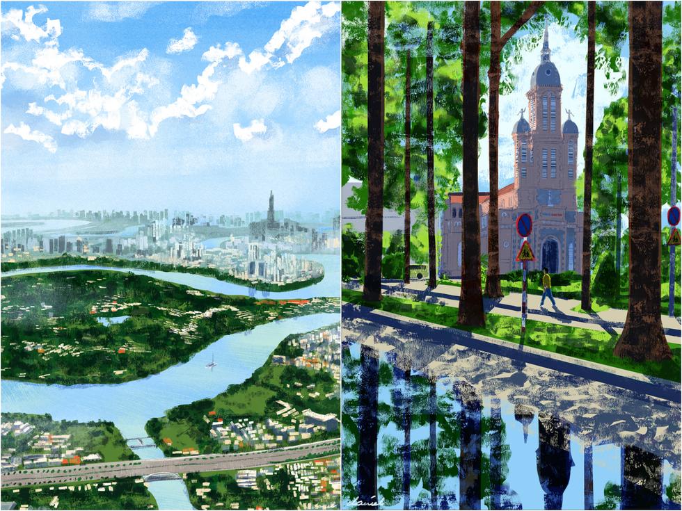 Bộ tranh 'vẽ Sài Gòn bằng cả trái tim' của họa sĩ Philippines - 6