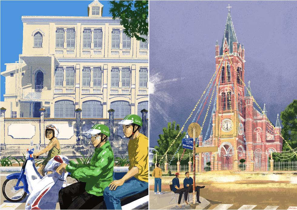 Bộ tranh 'vẽ Sài Gòn bằng cả trái tim' của họa sĩ Philippines - 10