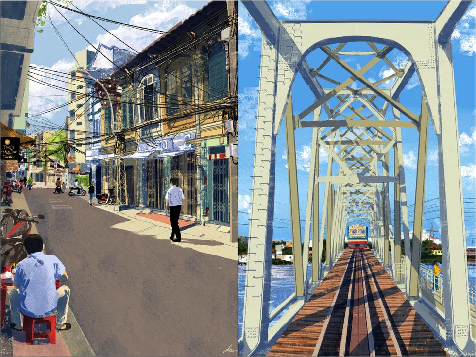 Bộ tranh 'vẽ Sài Gòn bằng cả trái tim' của họa sĩ Philippines - 5