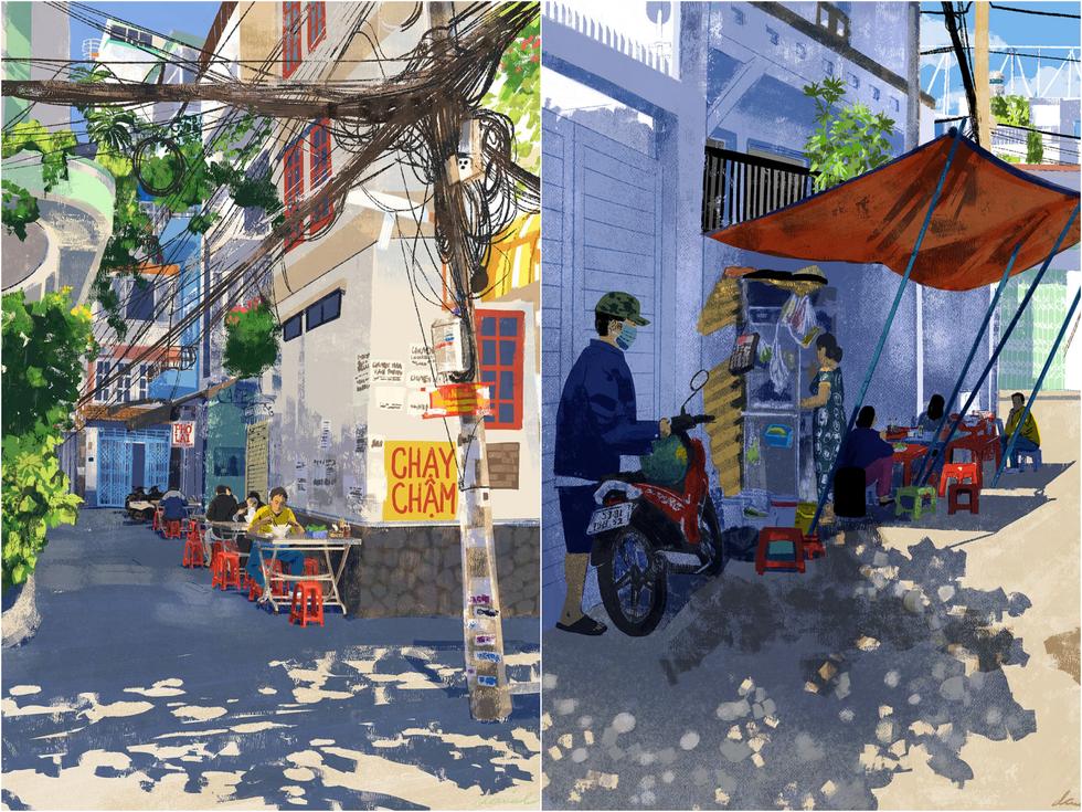 Bộ tranh 'vẽ Sài Gòn bằng cả trái tim' của họa sĩ Philippines - 3