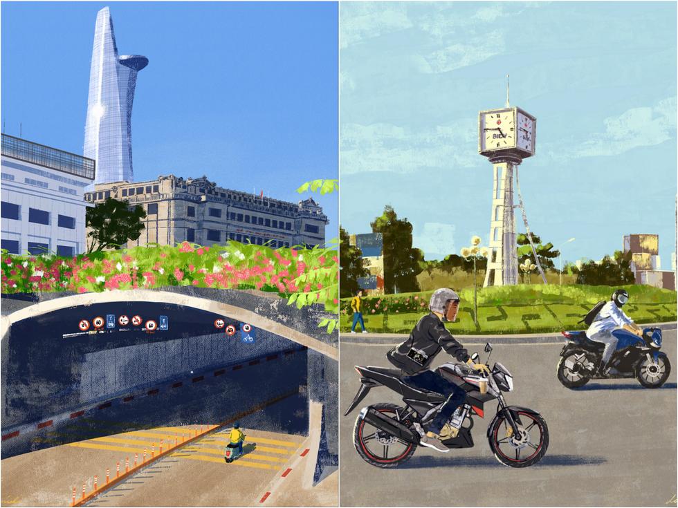 Bộ tranh 'vẽ Sài Gòn bằng cả trái tim' của họa sĩ Philippines - 2