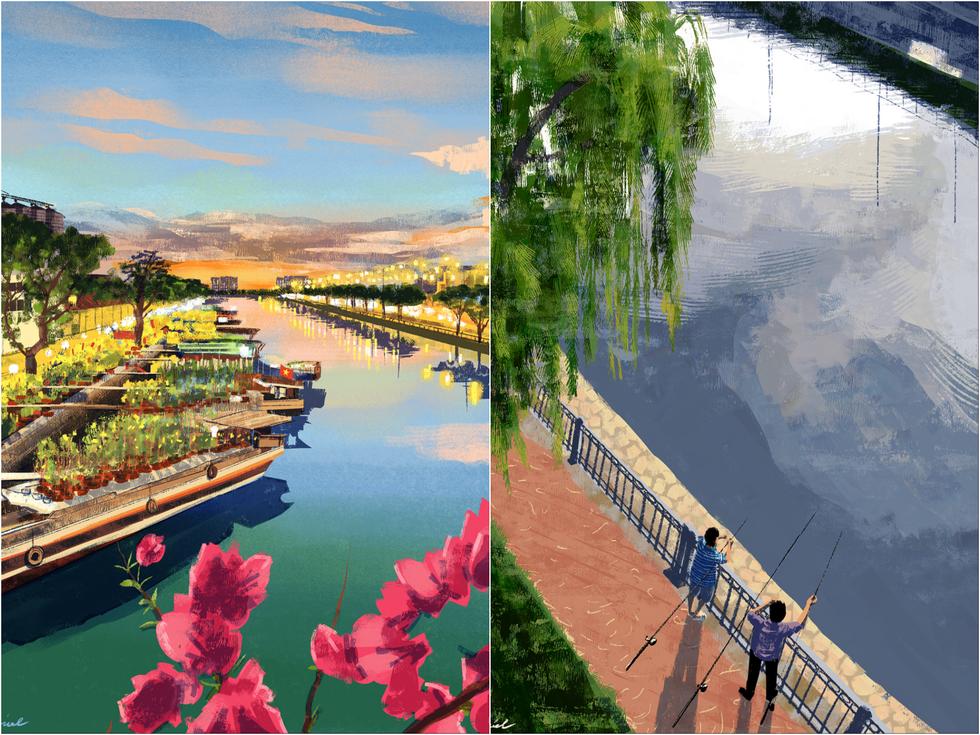 Bộ tranh 'vẽ Sài Gòn bằng cả trái tim' của họa sĩ Philippines - 9