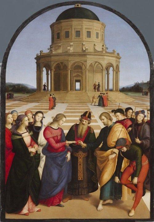 """Bức """"Hôn lễ của Đức mẹ đồng trinh"""" của Raphael - 1"""