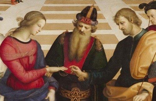 """Bức """"Hôn lễ của Đức mẹ đồng trinh"""" của Raphael - 2"""