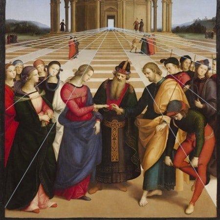 """Bức """"Hôn lễ của Đức mẹ đồng trinh"""" của Raphael - 9"""