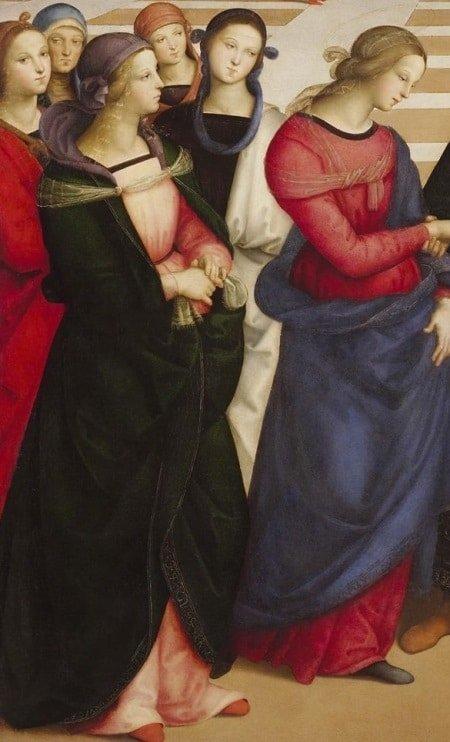 """Bức """"Hôn lễ của Đức mẹ đồng trinh"""" của Raphael - 4"""